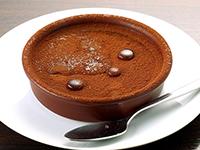 イタリアのチョコレートプリン