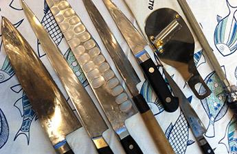 20年以上使い込んだナイフや道具