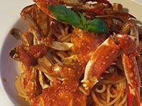 ワタリ蟹のトマトソースパスタ
